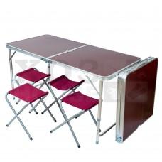 Стол складной в комплекте с четырьмя стульями