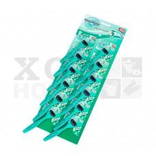 Бритва одноразовая (3 лезвия) зеленая, набор 12шт