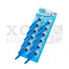 Бритва одноразовая (3 лезвия) синяя, набор 12шт