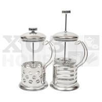 Чайник заварочный с поршнем в металлической оправе, 600мл