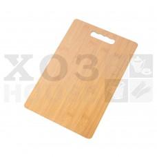 Доска разделочная деревянная 12мм, 24х34см