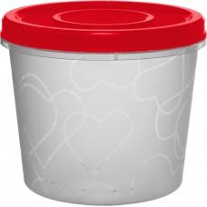 Емкость д/продуктов с завинч. крышкой 0,7л, Сочный томат