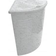 Корзина для белья Aqua 40л угловая (Мраморный) (BQ1700МР)
