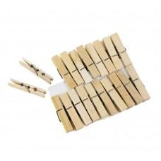 Прищепки бамбуковые, 20шт
