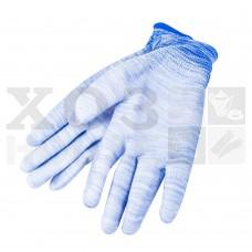 Перчатки трикотажные нейлоновые с латексным покрытием ладони (синие)