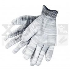 Перчатки трикотажные нейлоновые с латексным покрытием ладони (серые)